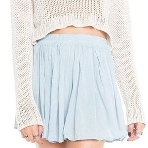Brandy Melville light blue luma skirt